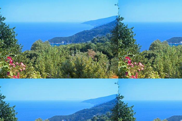 Vinylová Tapeta Tsagarada oblast Pelion v Řecku - Evropa