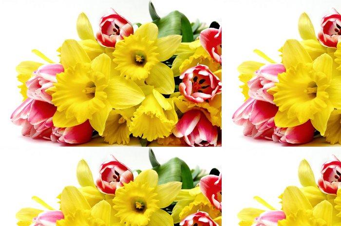 Tapeta Pixerstick Tulipány a narcisy - Roční období