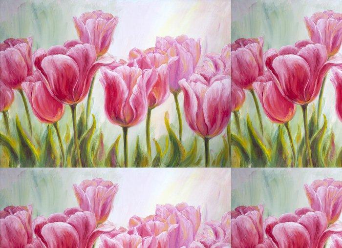 Tapeta Pixerstick Tulipány, olej na plátně - Témata