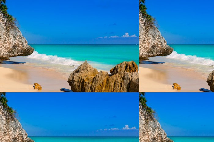 Vinylová Tapeta Tulum pláži nedaleko Cancúnu tyrkysové Karibiku - Evropa