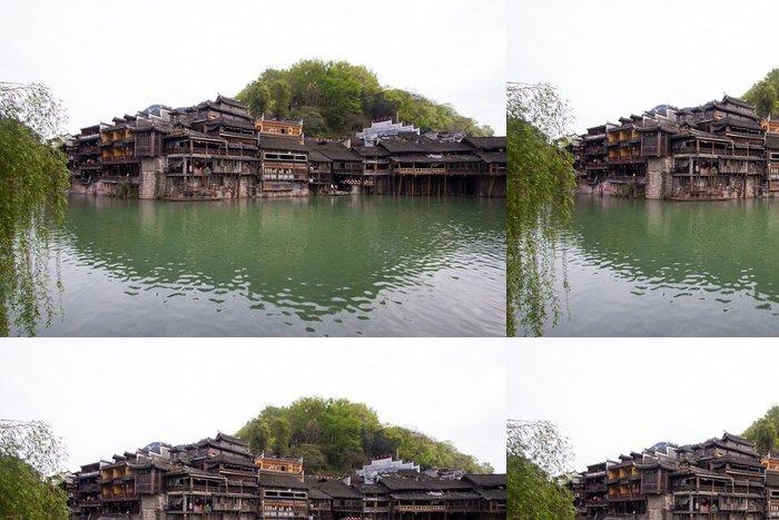Tapeta Pixerstick Tuojiang River obě banky scenérie ve Phoenixu County, china - Asie