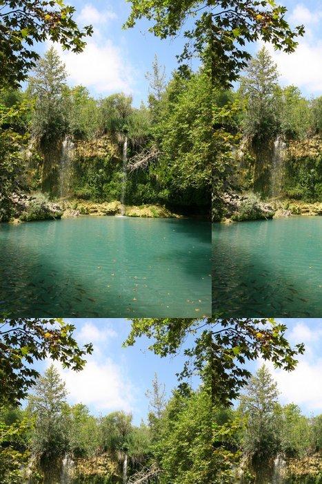 Vinylová Tapeta Türkei - Kursunlu Wasserfall am See - Voda