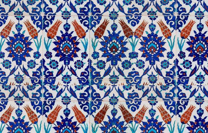 Vinylová Tapeta Turkish Modrá Tile - Památky
