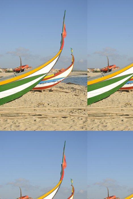 Vinylová Tapeta Typické portugalské rybářské lodi na pláži, Espinho, Portugalsko - Evropa