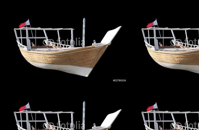 Tapeta Pixerstick Typický tradiční arabské rybářský dhou na černém - Těžký průmysl