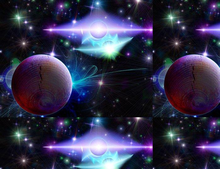 Tapeta Pixerstick Tyrkysová-fialový dvojitý blesk - Témata