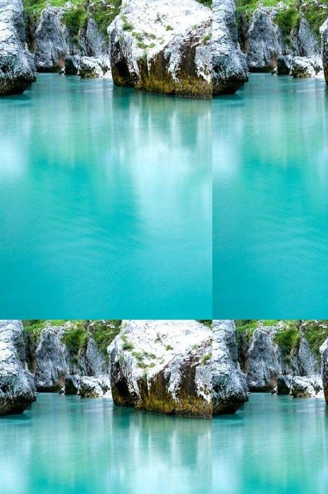 Vinylová Tapeta Tyrkysové vody - prostor pro text - Přírodní krásy