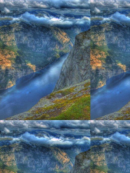 Tapeta Pixerstick Über dem Lysefjord HDR - Příroda a divočina