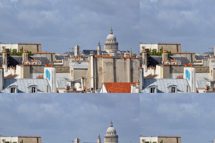 Tapeta Pixerstick Über den Dächern von Paris - Evropská města