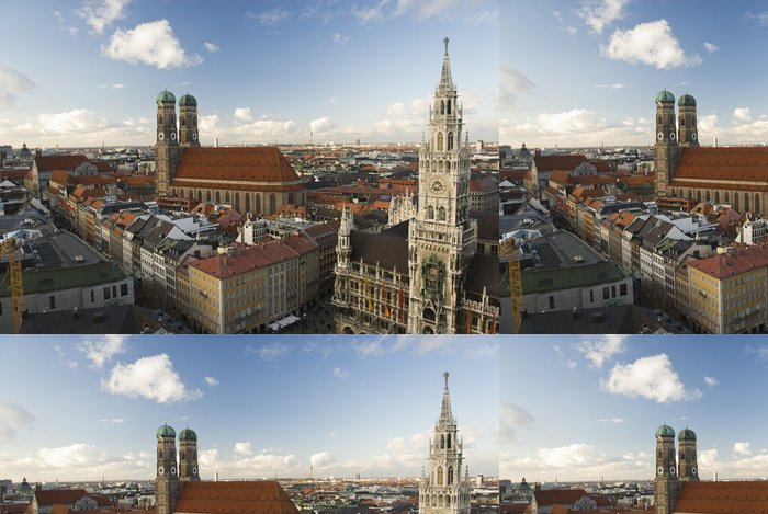 Tapeta Pixerstick Übersichtsaufnahme München - Prázdniny