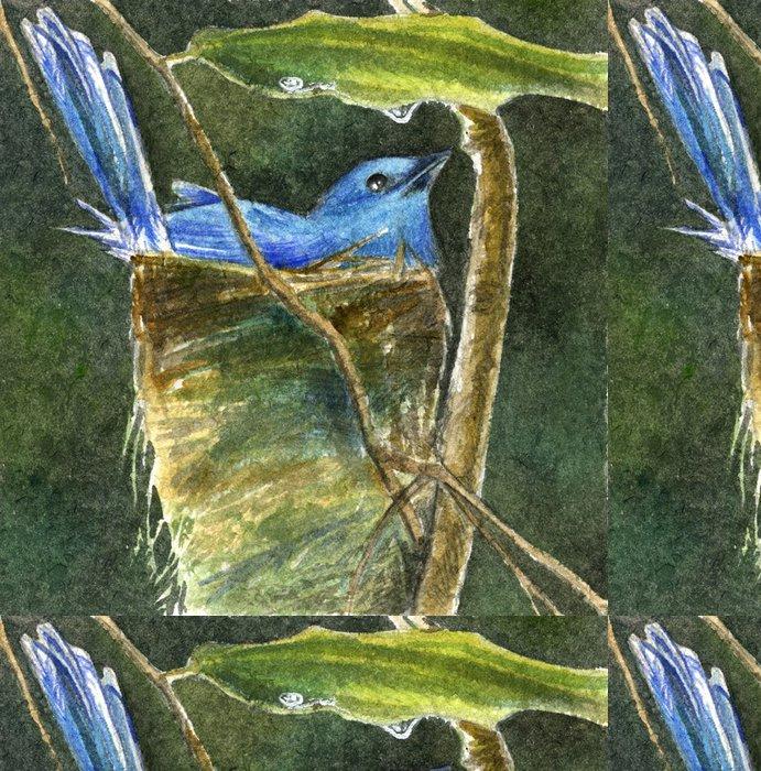 Tapeta Pixerstick Uccello celeste nel nido - Zdraví a medicína