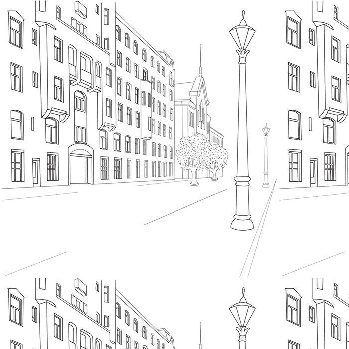 Tapeta Pixerstick Ulice města - Soukromé budovy