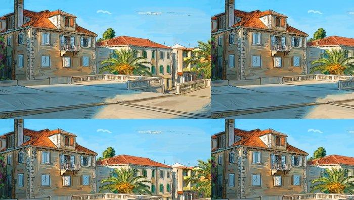 Tapeta Pixerstick Ulice město Chorvatsko - ilustrace - Evropa