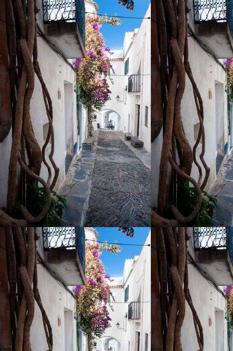 Tapeta Pixerstick Ulice rostliny a oblouky uvnitř města Cadaques - Evropa