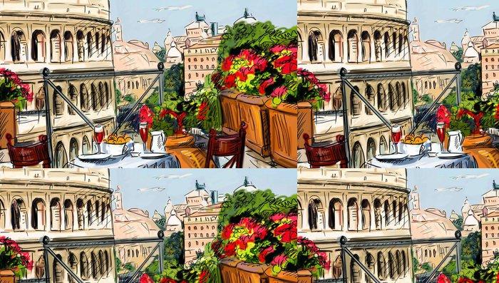 Tapeta Pixerstick Ulice v Toskánsku - ilustrace - Témata