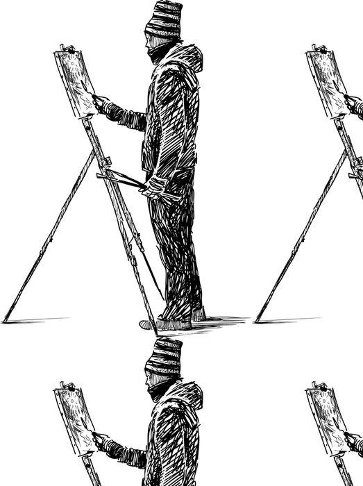 Tapeta Pixerstick Umělec pod širým nebem - Umění a tvorba