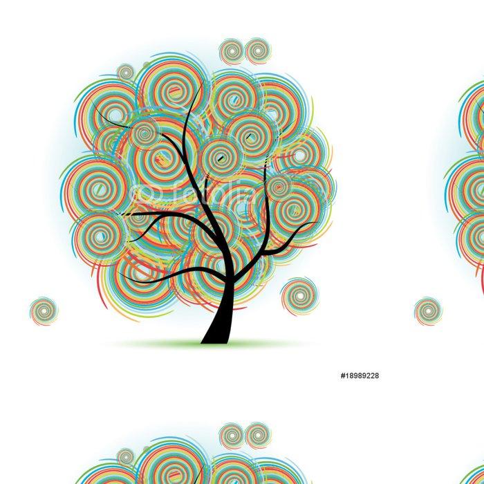 Vinylová Tapeta Umění strom krásné - Roční období