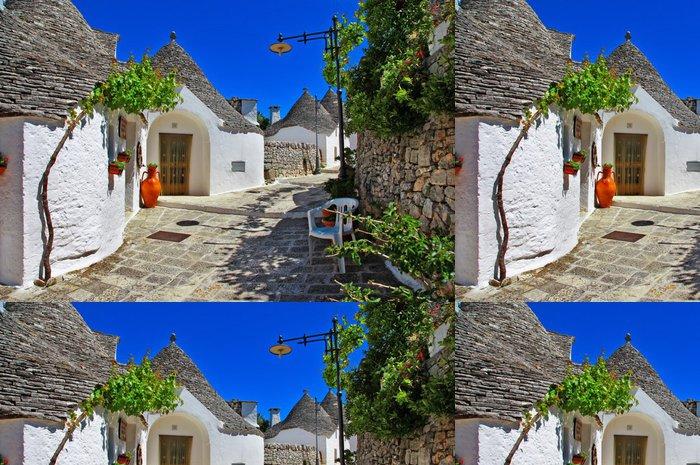 Vinylová Tapeta Unikátní Trulli domy s kuželovitými střechami v Alberobello, Itálie, P - Prázdniny