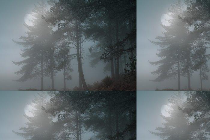 Tapeta Pixerstick Úplněk les - Témata