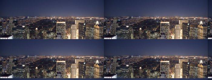 Vinylová Tapeta Uptown & Central Park v noci - Město