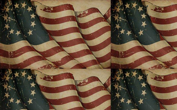 Tapeta Pixerstick USA Betsy Ross Starý papír - Pozadí