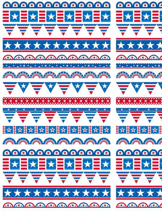 Vinylová Tapeta USA ozdobné okraje, ozdobné pravidla, děliče - Abstraktní