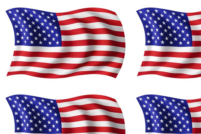 Tapeta Pixerstick USA vlajka USA - americká vlajka - Prázdniny