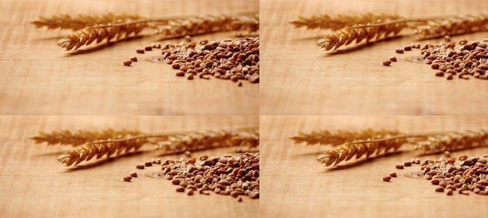 Tapeta Pixerstick Uši zrna pšenice s makro - Styly