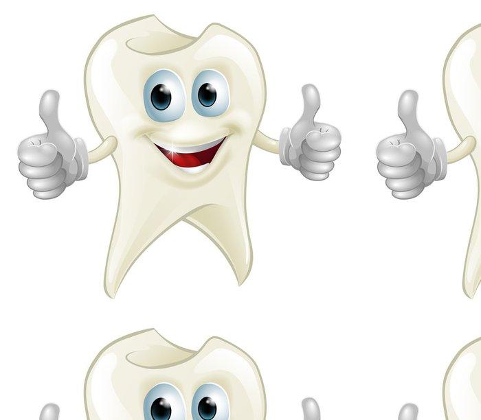 Tapeta Pixerstick Usmívající zubů maskota - Zdraví a medicína