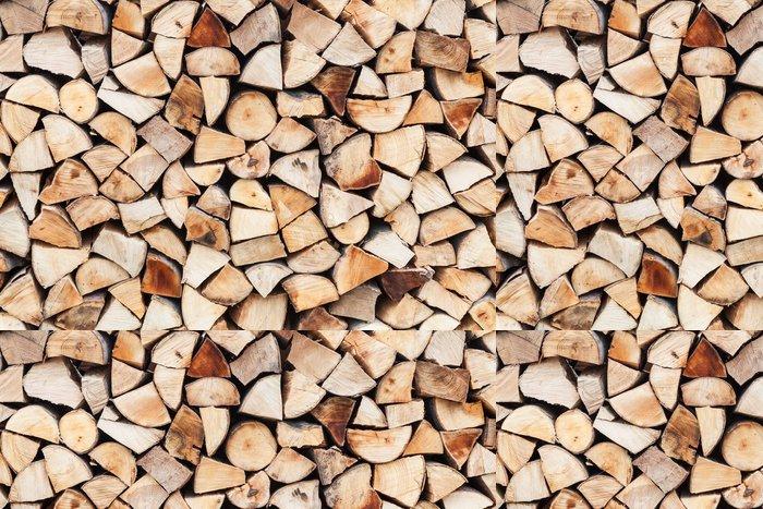 Tapeta Pixerstick Uspořádání nasekané dřevo připraveny a skladovány - Zemědělství