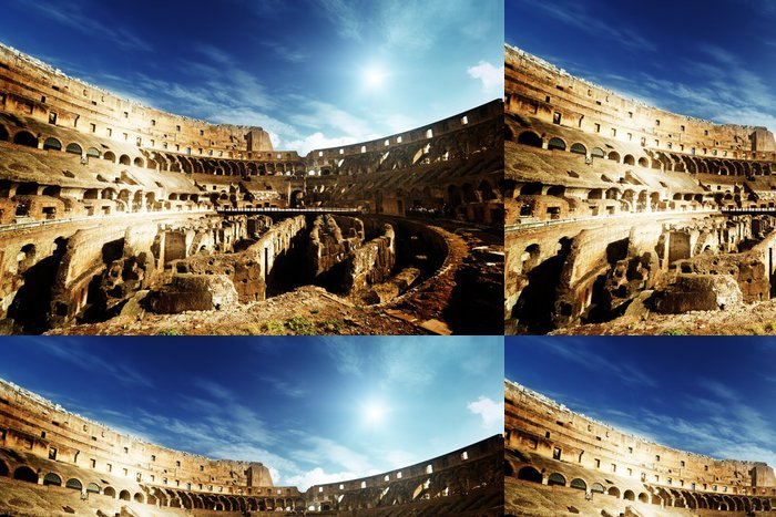 Tapeta Pixerstick Uvnitř Colosseum v Římě, Itálie - Témata