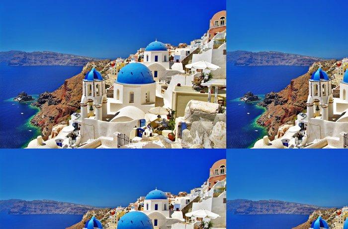 Vinylová Tapeta Úžasné bílo-modrá Santorini - Témata