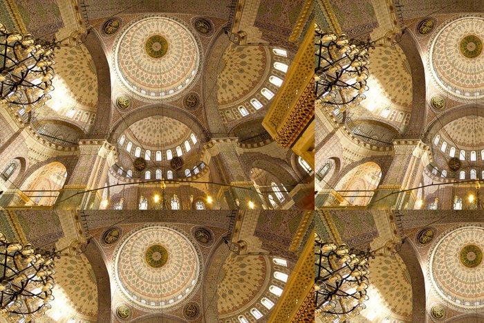 Tapeta Pixerstick Úžasné detaily interiéru oblouk uvnitř mešity v Istanbulu - Střední Východ