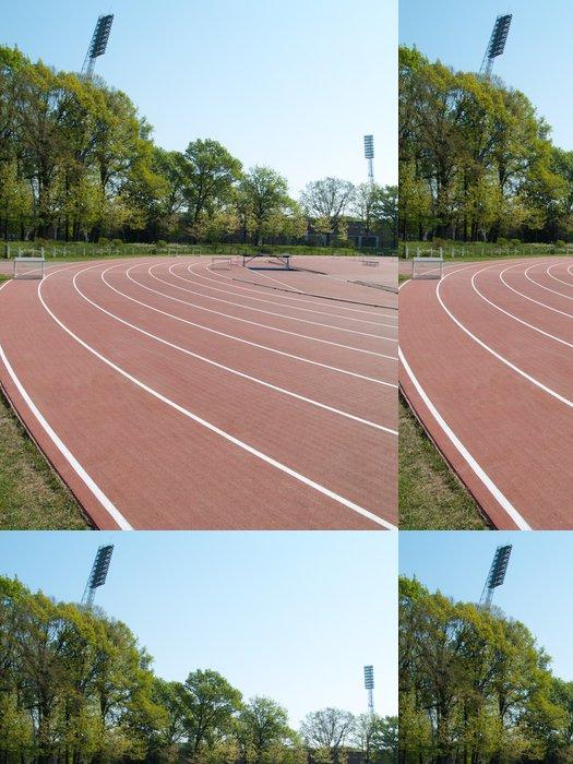 Tapeta Pixerstick V létě atletický stadion s run závodních tratí a sophit stožárů - Outdoorové sporty