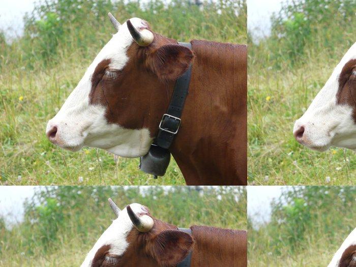 Vinylová Tapeta Vache de Savoie - Hory