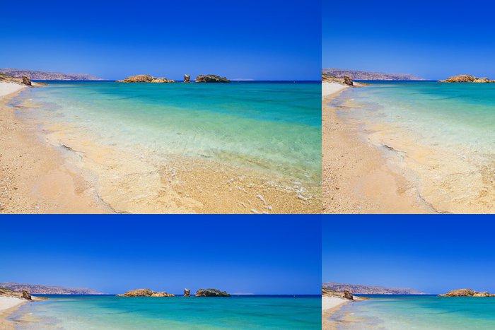 Tapeta Pixerstick Vai pláž s modrou lagunou na Krétě, v Řecku - Evropa