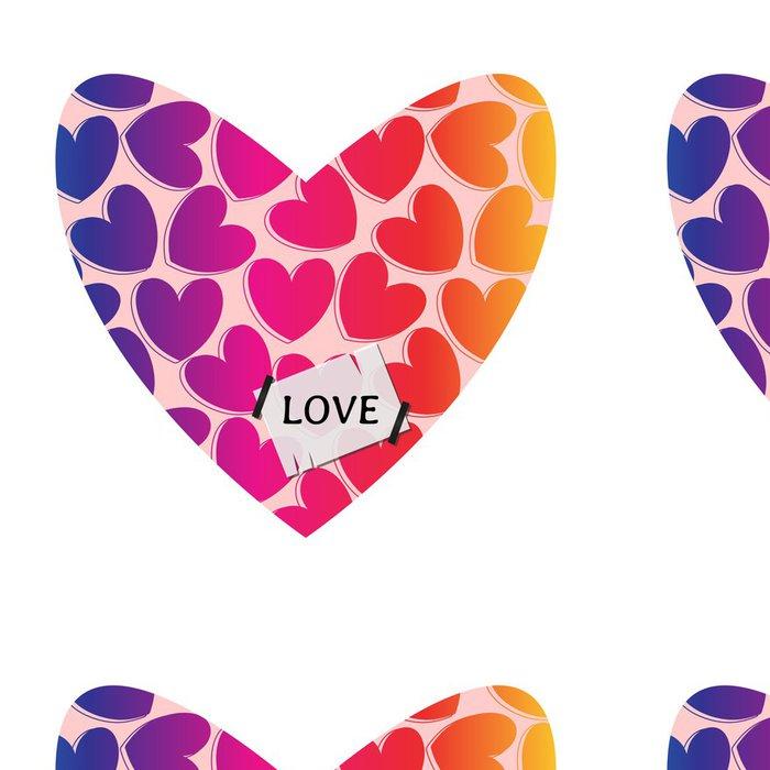 Vinylová Tapeta Valentine design karty s ozdobným srdcem - Mezinárodní svátky