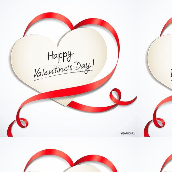 Vinylová Tapeta Valentine karta s srdce ve tvaru smyčky - Mezinárodní svátky