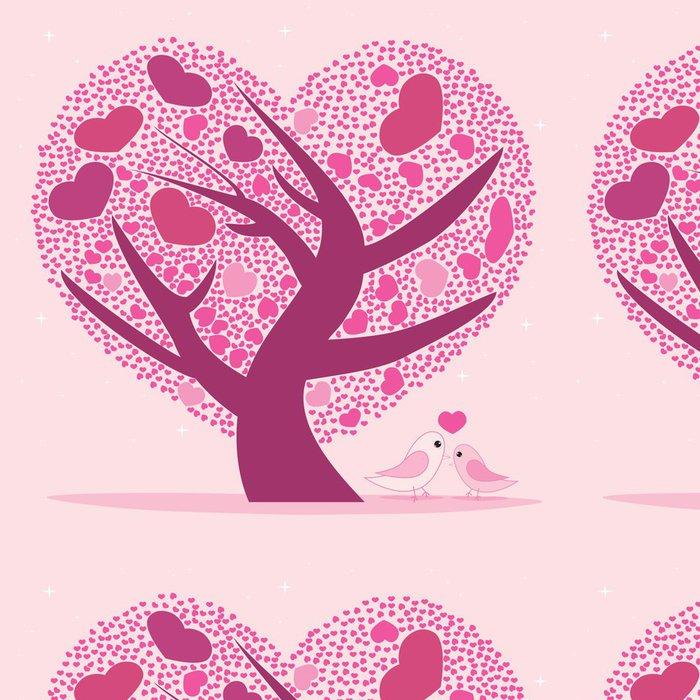 Tapeta Pixerstick Valentine strom pro svůj design, Pink tvaru srdce listy. - Umění a tvorba