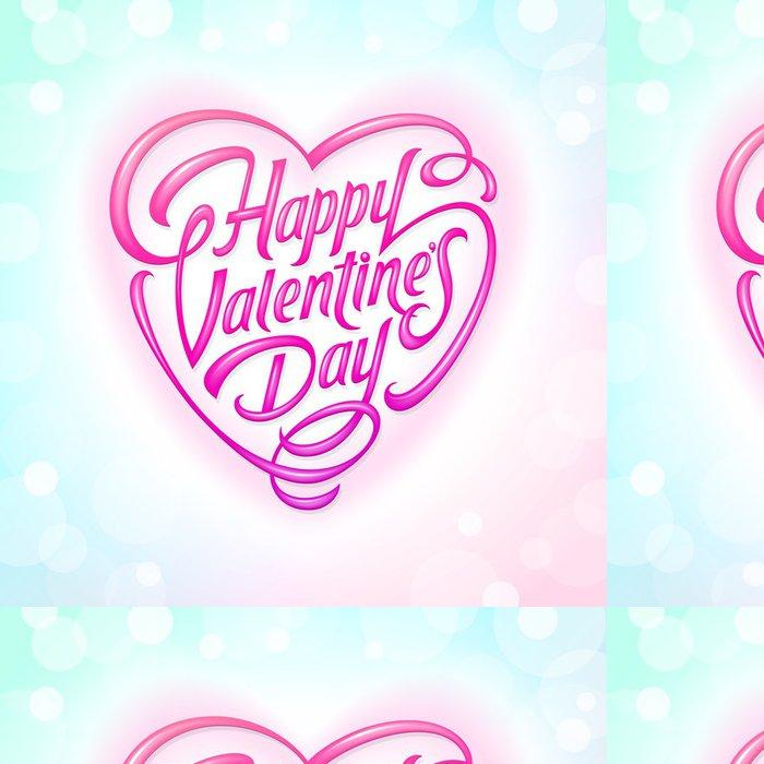 Tapeta Pixerstick Valentines Day ozdobný vyšperkovaný pozdrav - Mezinárodní svátky