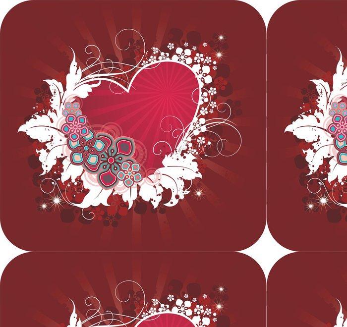 Tapeta Pixerstick Valentýnská pohlednice - Mezinárodní svátky