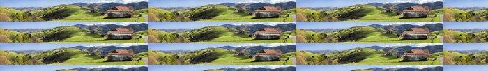 Tapeta Pixerstick Valle en Euskadi panoramica - Zemědělství