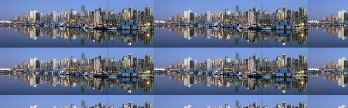 Tapeta Pixerstick Vancouver do města večer, Kanada BC - Amerika