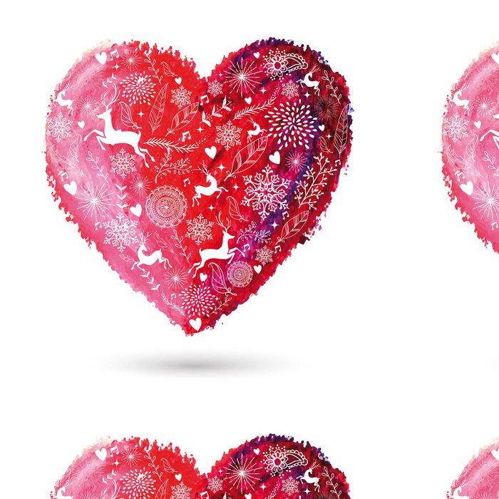 Tapeta Pixerstick Vánoce láska srdce bohémský blahopřání - Mezinárodní svátky