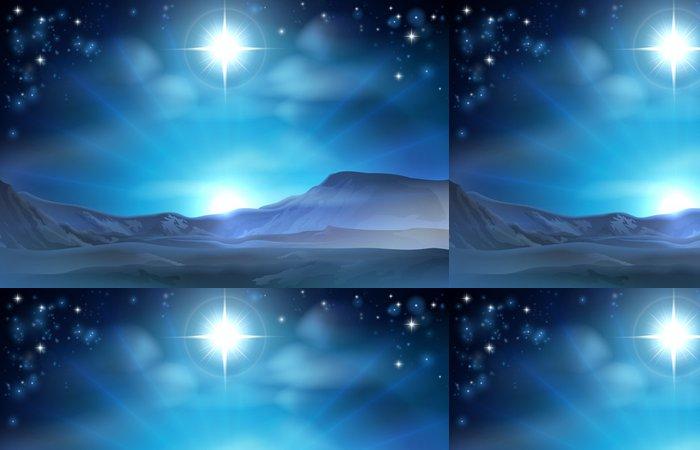 Tapeta Pixerstick Vánoční betlém Betlémská hvězda - Témata