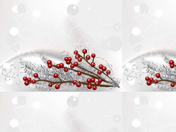 Tapeta Pixerstick Vánoční bobule - Mezinárodní svátky
