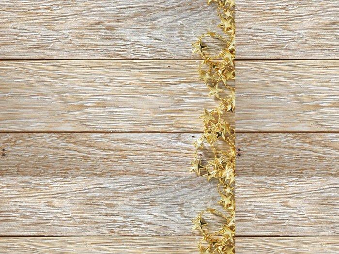 Tapeta Pixerstick Vánoční dekorace na texturu dřeva. pozadí staré desky - Mezinárodní svátky