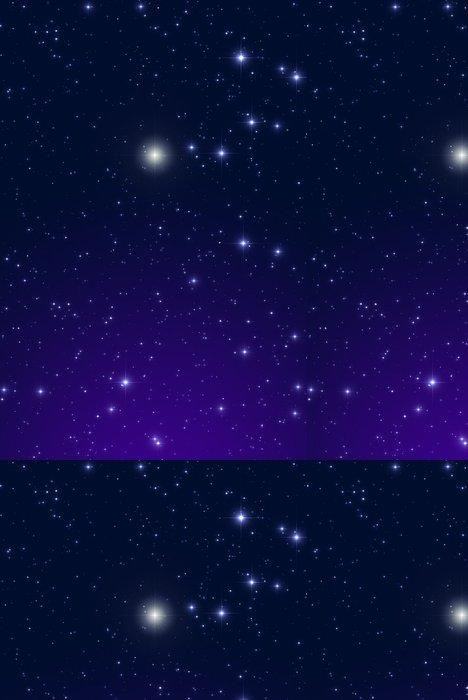 Tapeta Pixerstick Vánoční hvězda na tmavé obloze. - Meziplanetární prostor