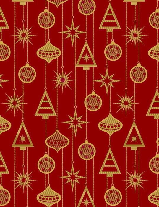 Vinylová Tapeta Vánoční strom decorations- bezešvé vzor - Pozadí
