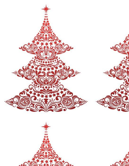 Tapeta Pixerstick Vánoční stromeček - Mezinárodní svátky
